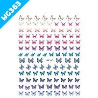 【ポイントアップ&クーポンあり】選べる7種類バタフライネイルステッカーシール極薄重ね貼りシールネイルアート貼るだけ7種類メール便蝶々ちょうちょカラフルレインボー綺麗