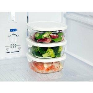 iwaki イワキ パック&レンジ 保存容器 耐熱ガラス ホワイト 450ml 母の日 プレゼント 実用的 重ねパック 3個セット パックアンドレンジ Sミニ浅型 N3240-W