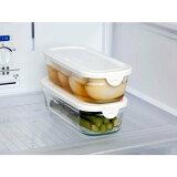 iwaki イワキ パック&レンジ 保存容器 耐熱ガラス 長角 500ml 母の日 プレゼント 実用的 重ねパック 2個セット パックアンドレンジ BOXハーフ N3246-W