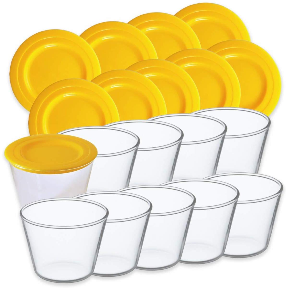 iwaki イワキ プリンカップ 耐熱ガラス フタ付き 10個セット 母の日 ギフト 100ml 耐熱 電子レンジ・オーブンOK