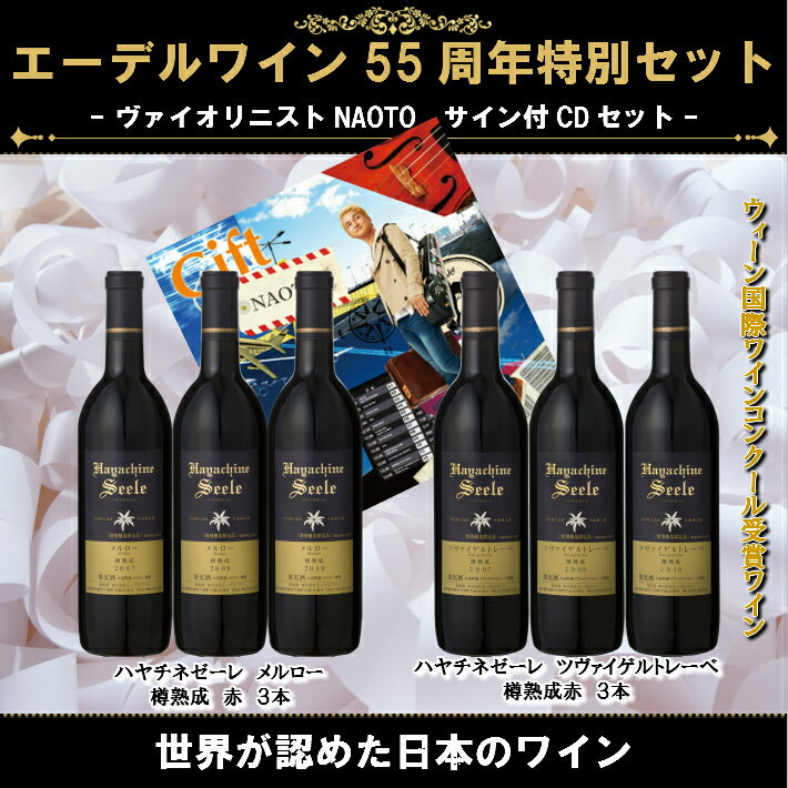 お中元 【送料無料】NAOTO ファン必見!フルボディ ワイン好きに贈る 特別醸造限定ワイン 蔵出しバックヴィンテージ エーデルワイン ハヤチネゼーレ赤 6本セット 2007 2008 2010日本ワイン 日本ワイン 国産ワイン