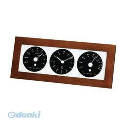 【ポイント2倍】【個数:1個】 直送 代引不可・同梱不可 LV-4302 EMPEX 置き掛け兼用 時計 リビウッディ温・湿クロック ダークブラウン