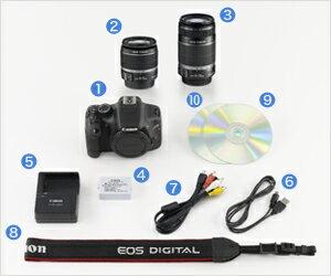【送料無料】キャノン(Canon)[EOS Kiss X4・ダブルズームキット]デジタル一眼レフカメラ EOS Ki...