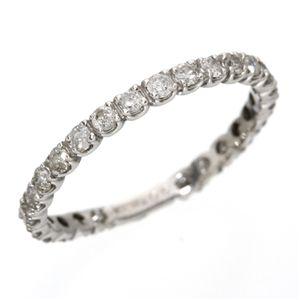 ※同梱「直送」K18WG(18金ホワイトゴールド)ダイヤリングエタニティリング(指輪)計0.5ct12540121号