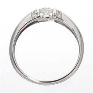 ※同梱「直送」0.28ctプラチナダイヤリング指輪デザインリング17号