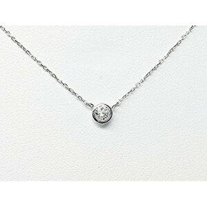 ※同梱「直送」プラチナPt900ダイヤモンドペンダント/ネックレス一粒0.20ctUPフクリンタイプ
