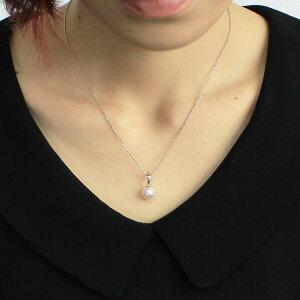 ※同梱「直送」アコヤ本真珠8.5-9.0mm珠ネックレス&ピアス&ペンダント3点セット