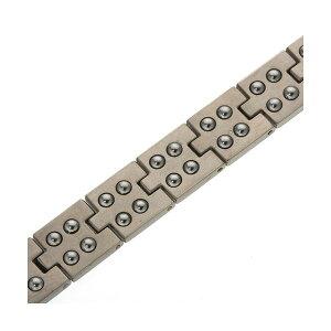 ※同梱「直送」カラーゲルマ50ブレスレットシルバーカラー205mm