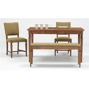 ※同梱「直送」ミキモクダイニングテーブルアビーロードダーク120cmATO-120550RLBダーク