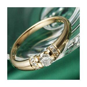 ※同梱「直送」K18PG/0.28ctダイヤリング指輪15号