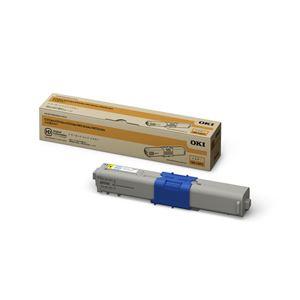 ※同梱「直送」【純正品】OKI(沖データ)対応トナーカートリッジイエロー印字枚数:3000枚1個型番:TNR-C4KY1
