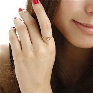 ※同梱「直送」K10ハートダイヤリング指輪ピンクゴールド7号