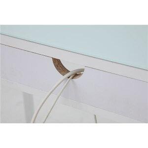 ※同梱「直送」あずま工芸ガラスデスク幅100cmホワイトEDG-1961