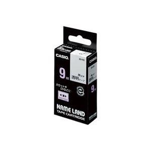 直送・代引不可 (業務用50セット) カシオ CASIO 透明テープ XR-9X 透明に黒文字 9mm 別商品の同時注文不可