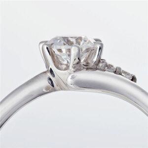 ※同梱「直送」Dカラー・VVS2・EXPt0.3ctダイヤリングサイドダイヤモンド(鑑定書付き)12号