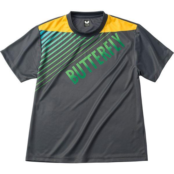 直送・代引不可 バタフライ(Butterfly) 男女兼用Tシャツ グラデイト・Tシャツ 45090 チャコール S 別商品の同時注文不可
