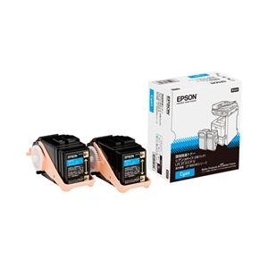 ※同梱「直送」エプソンページプリンター用環境推進トナー/シアン/Mサイズ2本パック(6500ページ×2)LPC3T31CPV