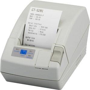 CT-S281RSJ-WH-PX「直送」【・他メーカー同梱】シチズン・システムズコンパクトラインサーマルプリンタCT-S281シリアルI/Fモデル