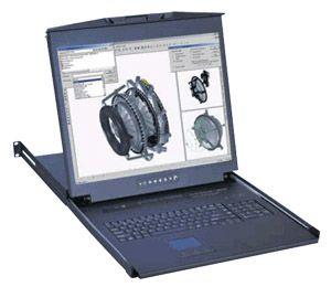 【キャンセル不可】L120-M804E 「直送」【代引不可・他メーカー同梱不可】 オースティンヒューズ 1U 20インチLCDモニター テンキー付キーボード ドロアー 3ボタンメンバランスマウス PS/2&USBコンボ 8ポート Matrix-KVMスイッチ 4コンソール