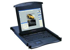 N-119E 「直送」【代引不可・他メーカー同梱不可】 オースティンヒューズ 1U 19インチLCDモニター 106キーキーボード ドロアー タッチパッドマウス PS/2&USBコンボ