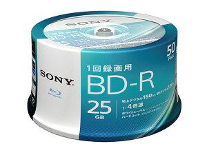 50BNR1VJPP4「直送」【・他メーカー同梱】ソニービデオ用BD-R追記型片面1層25GB4倍速ホワイトプリンタブル50枚スピンドル