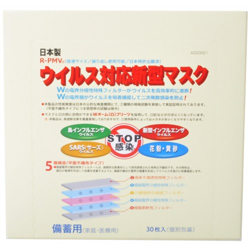 [4560204141047] 「直送」【代引不可・他メーカー同梱不可】 日本ライフ 新型マスクPM2.5対応30枚入