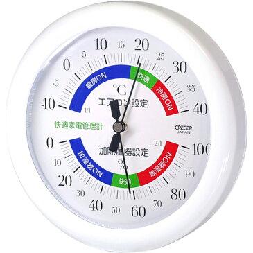【個数:1個】4955286808085 クレセル 快適家電管理計 温・湿 壁掛・卓上 TR-130W