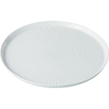 西海陶器 13625 白磁カンナ 26cmプレート