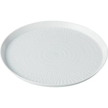 西海陶器 14773 白磁カンナ 21cmプレート