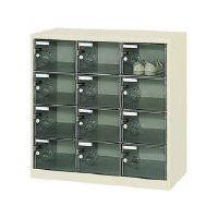 トラスコ(TRUSCO)[SC-12PC]ボックス透明扉付12人用900×380×880『送料無料』
