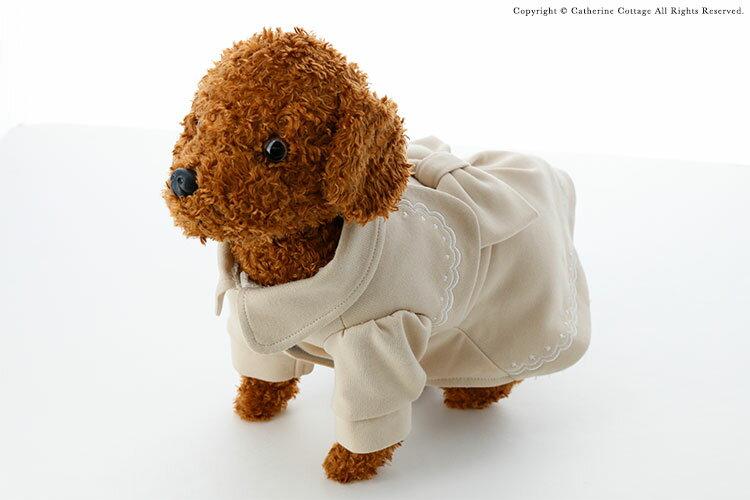 ドッグウェア 冬 コート 犬服 おしゃれ 裏ボアケープコート[小型犬 超小型犬 チワワ トイプードル ポメラニアン ヨークシャテリア XXS XS S M L]リボン かわいい 冬服 ペットウェア Eddie et Cherie