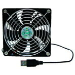高回転のパソコン取付け用12cm角ファンを採用したUSB接続のかなり涼しい卓上扇風機。タイムリー...