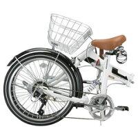 【送料無料】OTOMO 20インチ折りたたみ自転車 ARUN ホワイト MSB206ASホワイト [MSB206ASホワイト] 手軽に便利に、幅広く使える折りたたみサイクル。