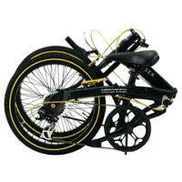 WACHSEN20インチアルミフレーム折りたたみ自転車6段変速BA-100-BYLAngriff(アングリフ)