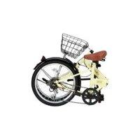 OTOMO20インチ折りたたみ自転車RaychellアイボリーFB-206Rアイボリ-[FB206Rアイボリ-]