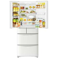 日立475L6ドアノンフロン冷蔵庫ホワイトR-FR48M5-W[RFR48M5W]【KK9N0D18P】