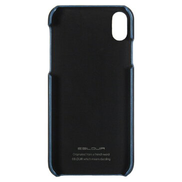 Eblouir iPhone XS/X用カバーケース BackPack Bar ネイビー EB14374I58 [EB14374I58]