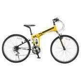 【送料無料】OTOMO 26インチ折りたたみ自転車 HUMMER イエロー HUMMERFDB268WSUSイエロ- [HUMMERFDB268WSUSイエロ-]