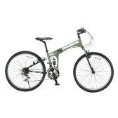 【送料無料】OTOMO 26インチ折りたたみ自転車 HUMMER マットグリーン HUMMERFDB268WSUSマツトグリ-ン [HUMMERFDB268WSUSマツトグリ-ン]