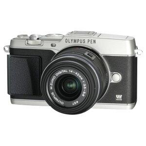 【送料無料】オリンパス デジタル一眼カメラ・標準ズームレンズセット PEN シルバー E-P5…