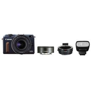 【送料無料】キヤノン デジタル一眼カメラ・ダブルレンズキット EOS M2 ベイブルー EOS…
