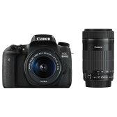 【送料無料】キヤノン デジタル一眼レフカメラ・ダブルズームキット EOS 8000D ブラック EOS8000DWKIT [EOS8000DWKIT]