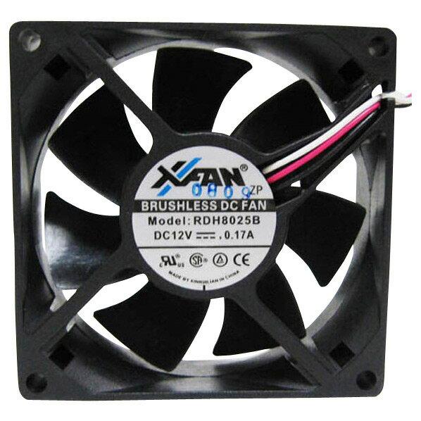 X-FAN ケースファン ブラック RDH8025B [RDH8025B]【FBMP】