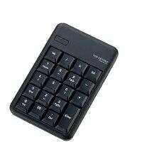 エレコム Bluetoothワイヤレステンキーパッド ブラック TK-TBM016BK [TKTBM016BK]
