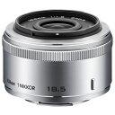 【送料無料】ニコン 標準レンズ 1 NIKKOR 18.5mm f/1.8 シルバー 1N 185SL [1N185SL]