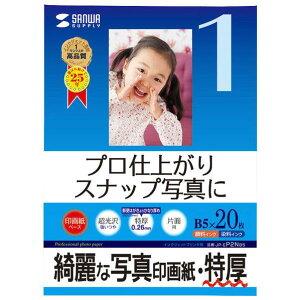 サンワサプライ インクジェット写真印画紙(特厚・B5サイズ) JP-EP2NB5 [JPEP2NB5]【JMPP】
