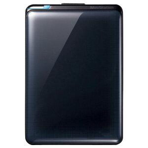 【送料無料】BUFFALO 1TB ポータブルHDドライブ ミニステーション インディゴブラッ…