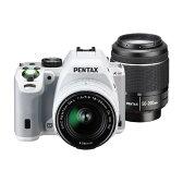 【送料無料】PENTAX PENTAX K-S2 ダブルズームキット ホワイト K-S2 WZK ホワイト [KS2WZKホワイト]