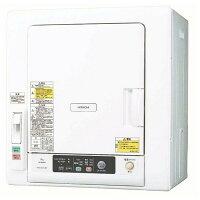 日立6.0kg衣類乾燥機ピュアホワイトDE-N60WV