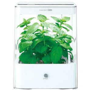 【送料無料】ユーイング 水耕栽培器 Green Farm Cube ホワイト UH-CB01G1-W [UHCB01G1W]